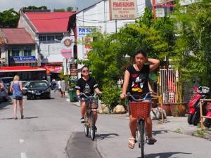 Cycling through Georgetown, Penang